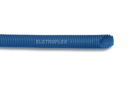 Eletroduto corrugado azul