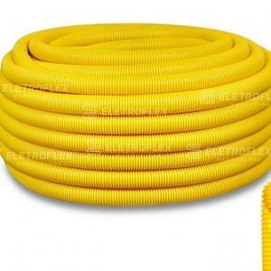Eletroduto corrugado amarelo